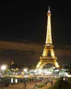 Illuminated Tower Eiffel