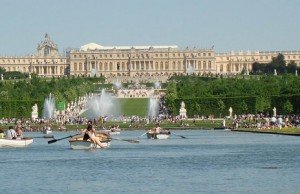 Boats on Grand Canal of Versailles