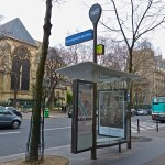 Paris' bus shelters